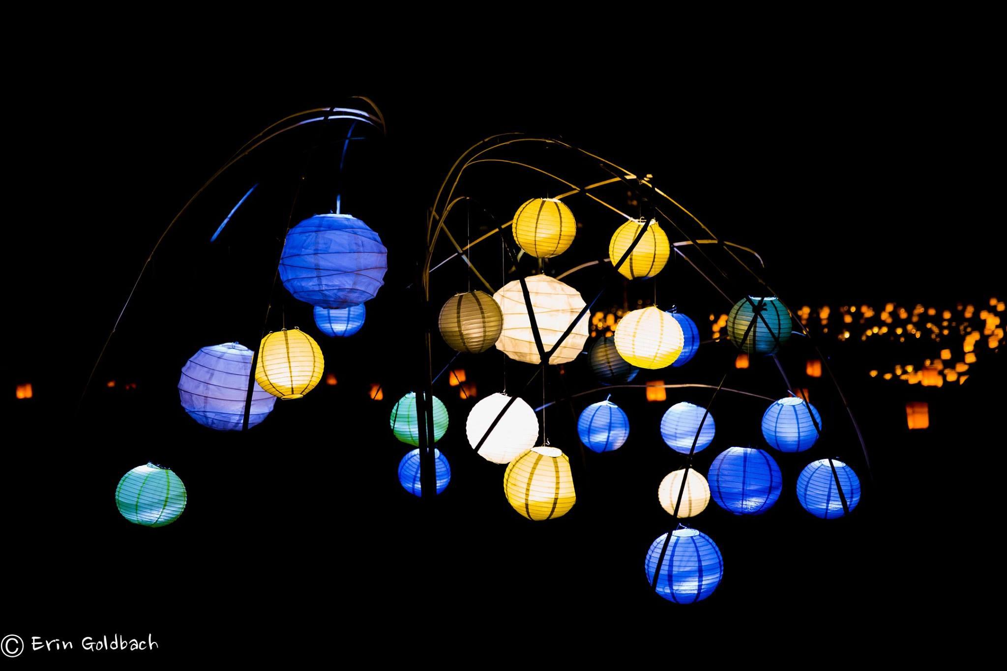 photo of lanterns at night
