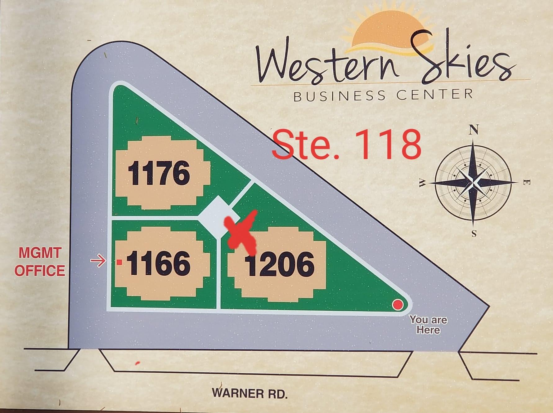 photo of western skies map